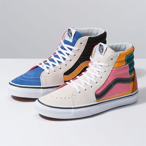 b435d83fc2d606 Colourful Patched High-Tops - Vans  Playful Footwear Will Cheerfully  Elevate the Casual Outfit (TrendHunter.com)