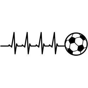 Silhouette Design Store View Design 146564 Heartbeat Soccer Soccer Tattoos Football Tattoo Soccer Art