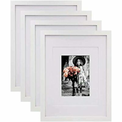 11x14 Picture Frames White Wood Hd Plexiglass For Pictures 5x7 8x10 Mat Mat In 2020 11x14 Picture Frame Picture Frames White Picture Frames