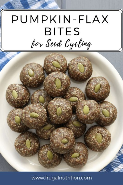 Spiced Flax & Pumpkin Seed Bites (Seed Cycling) - - These delicious little spiced bites are a great way to increase your seed intake for seed cycling, or to boost your daily magnesium! Pumpkin Seed Recipes, Pumpkin Seed Butter, Flax Seed Recipes, Pumpkin Spice, Pumpkin Seed Bars Recipe, Flax Seed Benefits, Benefits Of Pumpkin Seeds, Seed Cycling, Women's Cycling