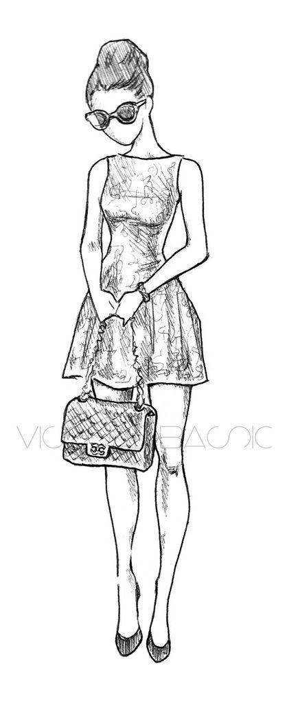 Fashion Illustration Chanel Sketches Posts