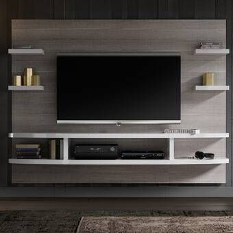 Stein Floating Mount Entertainment Center For Tvs Up To 60 Tv Room Design Living Room Entertainment Center Living Room Tv Unit Designs