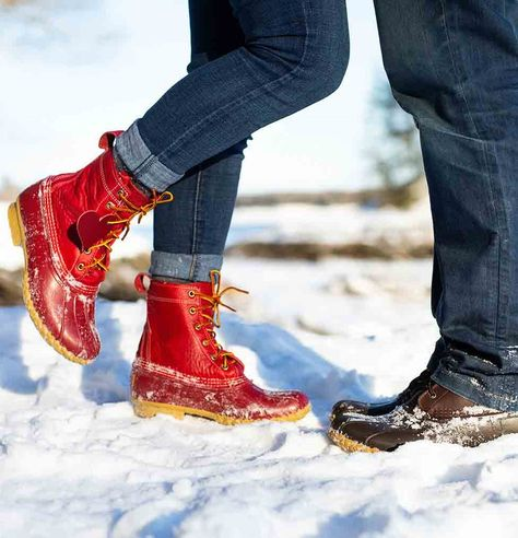 Happy Valentine's Day to all the sole mates out there. ❤️  L.L.Bean Limited-Edition Bean Boots. Made in Maine.