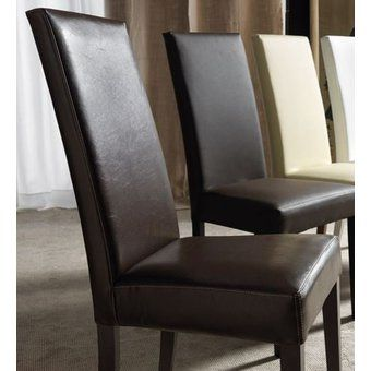 Impressionnant Chaises Cuir Marron Salle Manger Home Decor Dining Chairs Furniture