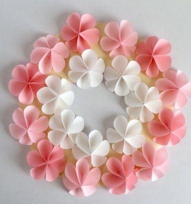 Super Easy Diy Paper Flower Wreath Fun Spring Craft For Kids