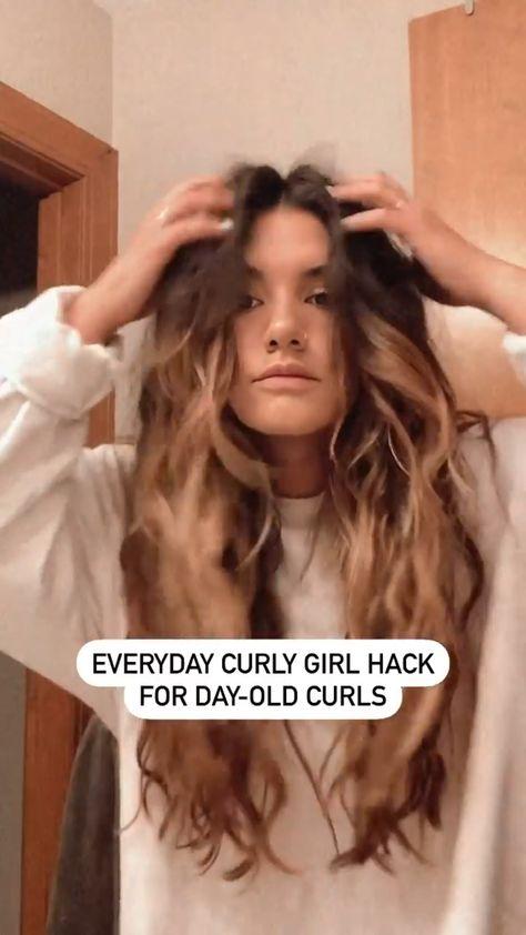 Curly Girl hair hack