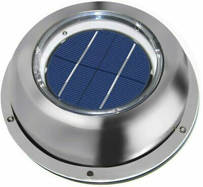 Solar Powered Vent Fan Exhaust Ventilation Stainless Steel F Boats Roof Attic Rv In 2020 Exhaust Ventilation Exhaust Fan Solar Attic Fan