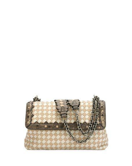 3a87c266995a0 BOTTEGA VENETA   Olimpia Small Check Shoulder Bag   $3,700.00   Bottega  Veneta shoulder bag in signature intrecciato woven leather.
