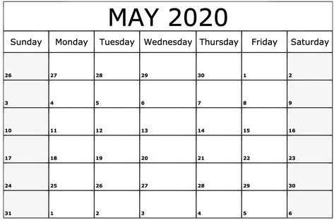 Pin On 2020 Monthly Calendars
