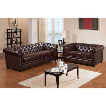 Costco Canterbury Top Grain Leather Sofa and Loveseat home