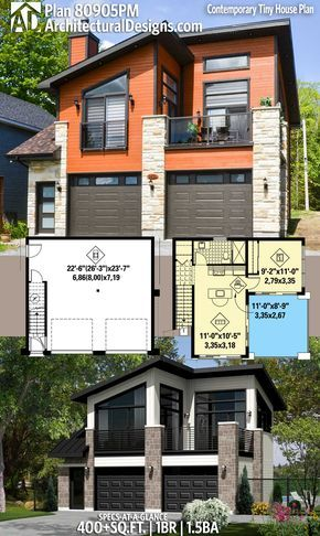 Plan 80905pm Contemporary Tiny House Plan With Images House