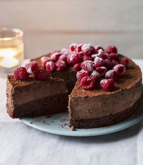 Mary Berry's rich, indulgent dessert is fit for a celebration and makes a stunning centrepiece.