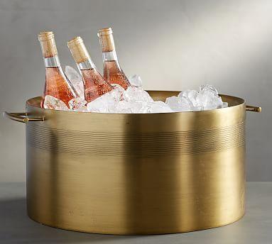 Bleecker Stainless Steel Party Bucket In 2020 Party Bucket Wine Bucket Glass Bar