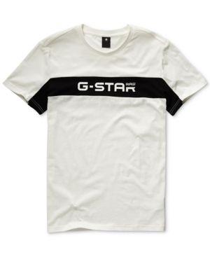 G STAR RAW G STAR RAW MEN'S COLORBLOCKED LOGO GRAPHIC T