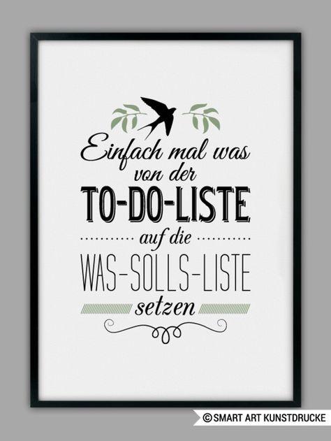 Poster mit Spruch / print with funny quote by SMART ART Kunstdrucke via DaWanda.com