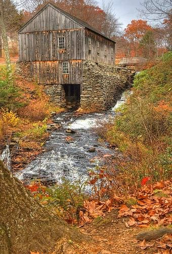 old barns in the fall.