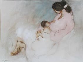 R C Gorman WINTER/'S CHILD  Native American FRAMED PRINT