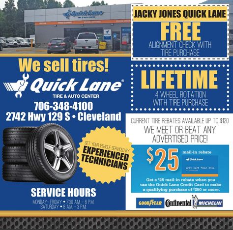 Jacky Jones Ford Cleveland Ga >> Jacky Jones Quick Lane Free Alignment Check With Tire