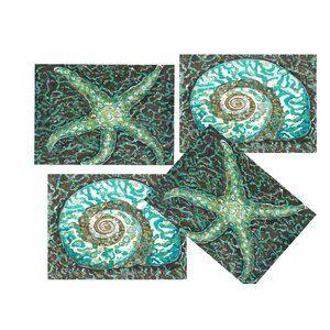 6 Piece Chevron Terry Assorted Linens Set Linen Placemats Nautical Placemats Placemat Sets
