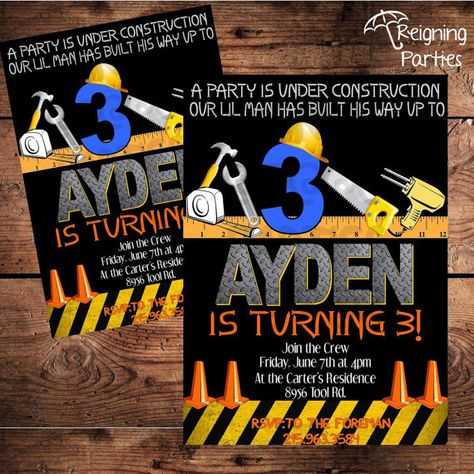 Construction Theme Birthday Party Invitation  by ReigningParties, $20.00