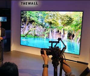 Samsung The Wall Microled And 85 Inch Qled Tv Tvs First Tv