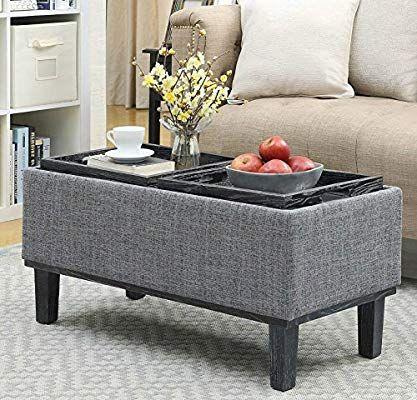 Amazon Com Storage Ottoman Coffee Table Modern Eco Friendly With