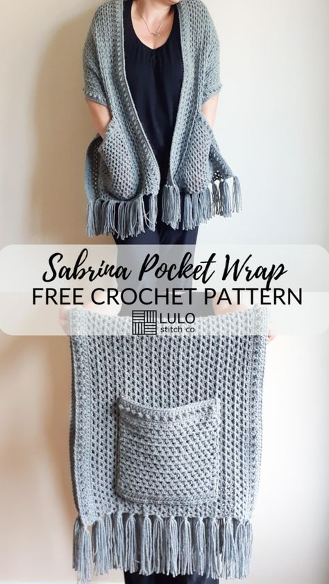 Crochet Cardigan, Crochet Scarves, Crochet Clothes, Knit Crochet, Crochet Sweaters, Crochet Wrap Pattern, Free Crochet Poncho Patterns, Crochet Shawl Free, Prayer Shawl Crochet Pattern