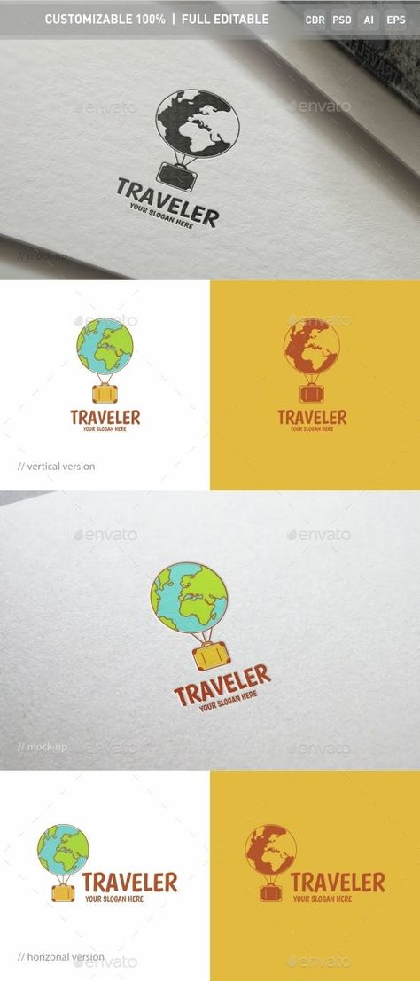 Traveler Logo Template - Objects Logo Templates