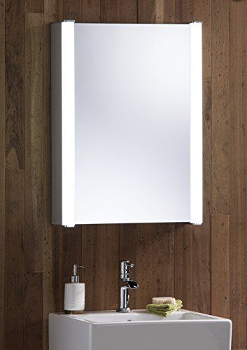 Neue Design Led Illuminated Bathroom Mirror Cabinet With Wire Free Demister Heat Pad Shaver Socket And Bathroom Mirror Cabinet Mirror Cabinets Bathroom Mirror