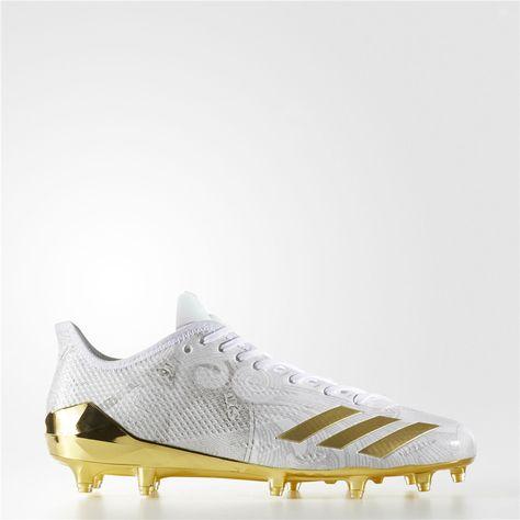 new product 07991 39a74 Adidas adizero 5-Star 6.0 Cleats (Running White   Metallic Gold   Metallic  Gold)