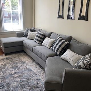 Daine 3 Pc Sectional Sofa Sectional Sofa Comfy Grey Sectional