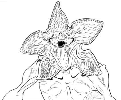 Stranger Things Coloring Pages Demogorgon Coloring Pages Coloring Books Stranger Things