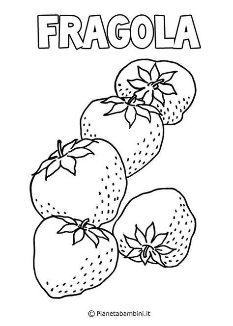 Disegni Di Frutta Da Stampare E Colorare Pagine Da Colorare
