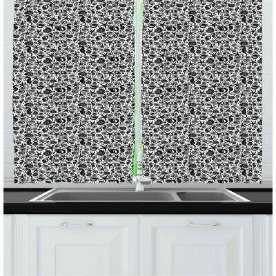 East Urban Home Nautical Kitchen Curtain In 2020 Nautical Kitchen Kitchen Curtains Window Drapes