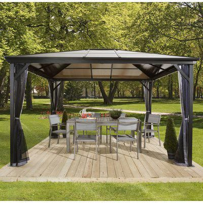 Sojag Verona Metal Patio Gazebo Size 8 Backyardpergola Patio