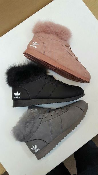 visitante lector puerta  Adidas high-tops with fur lining | Boots, Adidas boots, Adidas shoes women