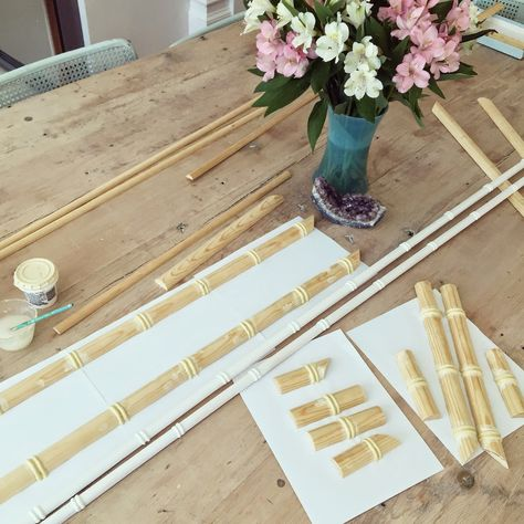 GORGEOUS SHINY THINGS: DIY: Faux Bamboo Moulding