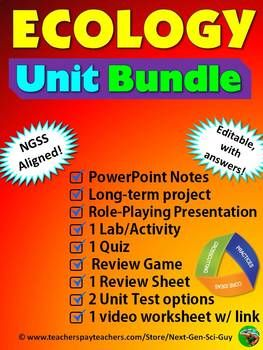 ECOLOGY Unit Bundle: NGSS Aligned   My TpT Products   High school