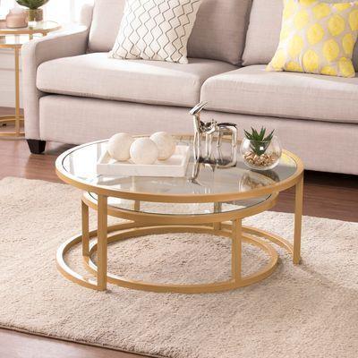 Adler Nesting Coffee Table Set Of 2 Living Room Coffee Table