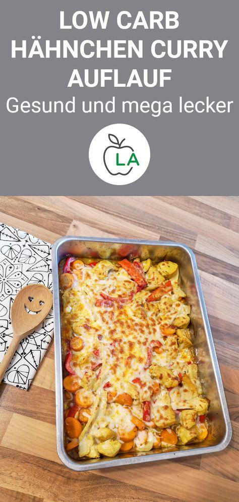 Hähnchen Fleisch ist Low Carb und eignet sich perfekt zum Abnehmen. Hier machen wir einen Auflauf mit Curry, der ein gesundes Essen für deine Diät ist. #gesund #rezept #abnehmen