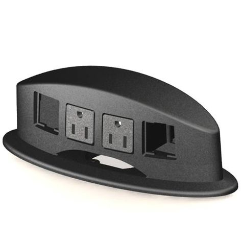 Edge Mount Power Data Center - bring #power and #data to your #desk with this convenient, reusable, remountable PDC that requires no holes or table cutouts (attaches to the edge of your desk via clamp).