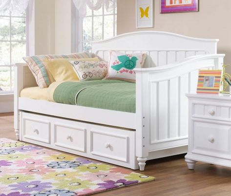 full size daybed with trundle storage and white nightstand daybeds rh pinterest com