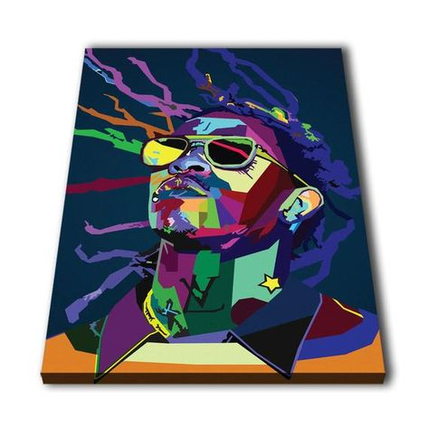 a74abda82317 Young Thug Rapper Canvas Giclee Print Painting Picture Wall Art Split  Canvases Home Decorations, Gif