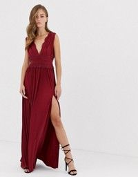 Asos Design Cami Maxi Dress In Crinkle Chiffon With Lace Waist And Strappy Back Detail Asos Maxi Dress Cami Maxi Dress Top Maxi Dresses