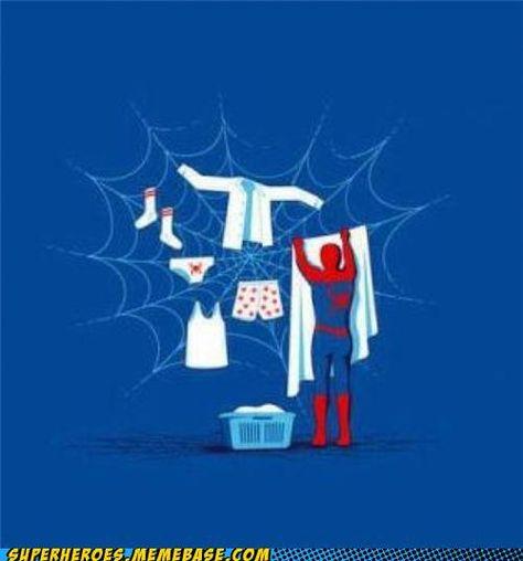 Superheros Do Housework Too.