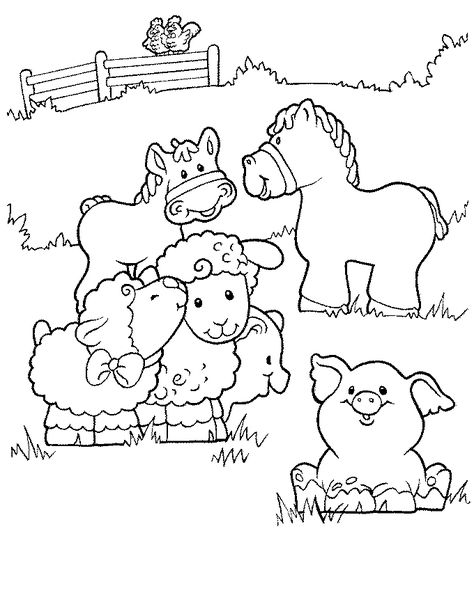http://colorings.co/baby-farm-animals-coloring-pages/ #Pages ...