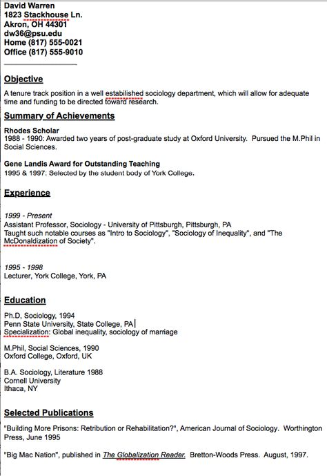 Academic Assistant Professor Resume Sample - http\/\/resumesdesign - cornell resume builder