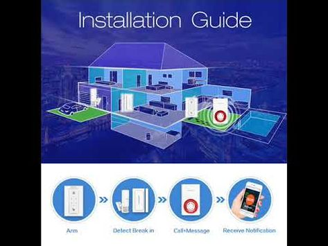Koochuwah Wireless Gsm Outdoor Burglar Home Security Alarm System Wit