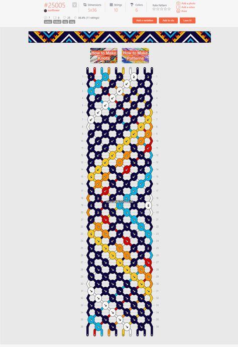 Normal friendship bracelet pattern variation added by sunflower. Diy Bracelets Easy, Thread Bracelets, Embroidery Bracelets, Bracelet Crafts, String Bracelets, Loom Bracelets, Macrame Bracelets, Handmade Bracelets, Diy Friendship Bracelets Tutorial