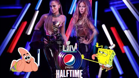 Shakira And J Lo Superbowl 54 Halftime Twerking Spongebob Edition Twerk Spongebob Shakira